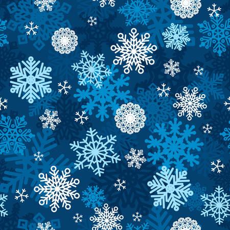 A vector illustration of Snowflakes Winter Wallpaper Seamless Pattern Illustration