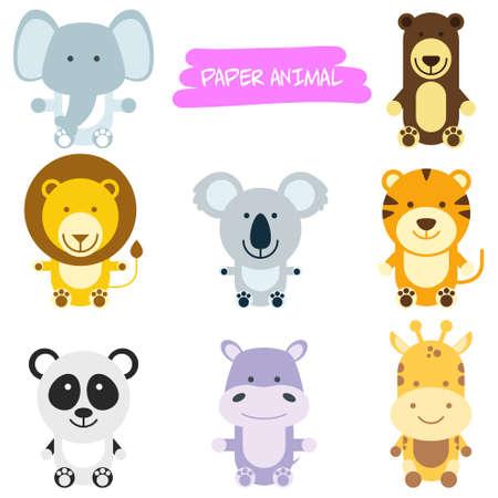 illustration de dessin animé animal sauvage