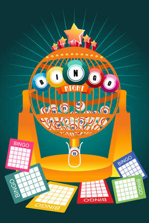 A vector illustration of Bingo Night Game Poster