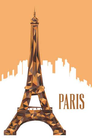 Une illustration vectorielle de l'affiche de la tour Eiffel Illustration