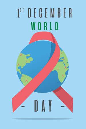 Affiche de la Journée mondiale du SIDA.