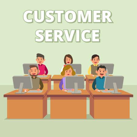 Une illustration vectorielle du support technique du service clientèle
