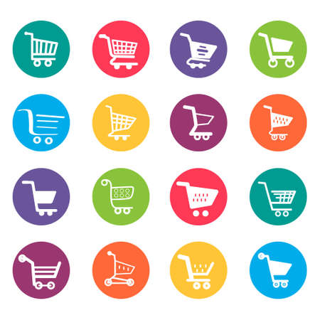 A vector illustration of Shopping Cart Icons Design Elements