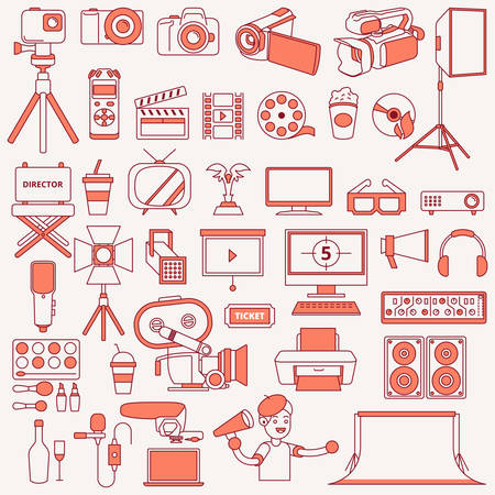 A vector illustration of Photography and Icons