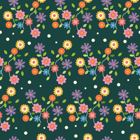 A vector illustration of Floral Flowers Wallpaper Seamless Pattern Background Illustration