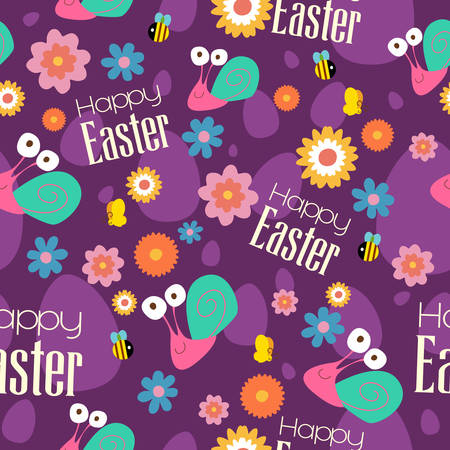 A vector illustration of Easter and Spring Wallpaper Seamless Pattern Background Stock Illustratie