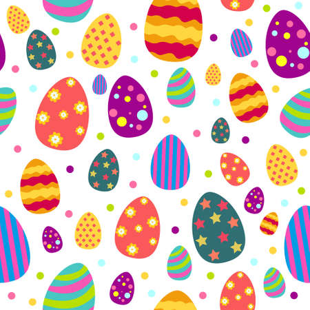A vector illustration of Easter and Spring Wallpaper Seamless Pattern Background Illustration