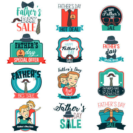 A vector illustration of Father Day Sale Sign