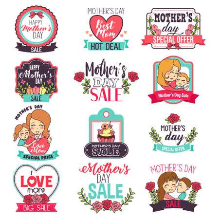 A vector illustration of Mother Day Sale Sign Illustration