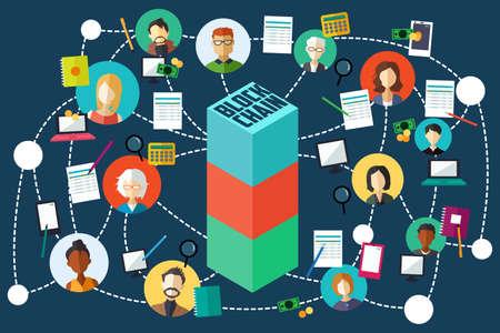 A vector illustration of Blockchain Technology
