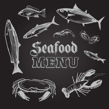 A vector illustration of Seafood Menu Ilustracja