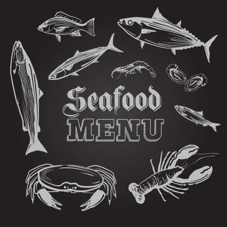 A vector illustration of Seafood Menu Ilustrace