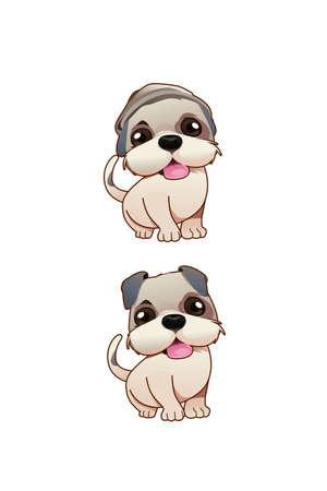 A vector illustration of a cute dog Illustration