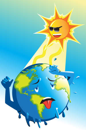 A vector illustration of Global Warming Conceptual Reklamní fotografie - 109096222