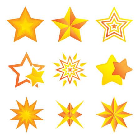 A vector illustration of Different Stars Design Illustration