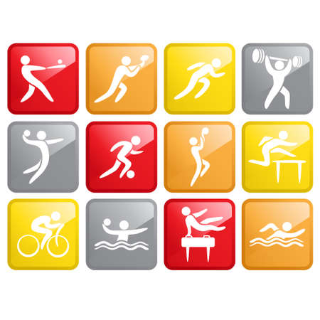 A vector illustration of Sport Competition Icons