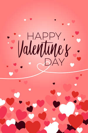 A vector illustration of Happy Valentine Day Greeting Card 向量圖像