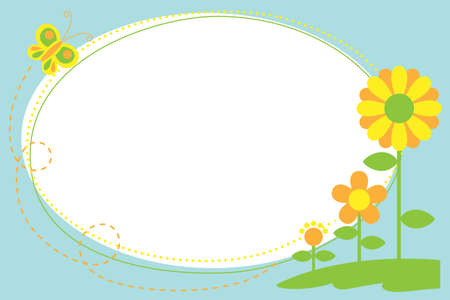 A vector illustration of Cutout Flower Frame