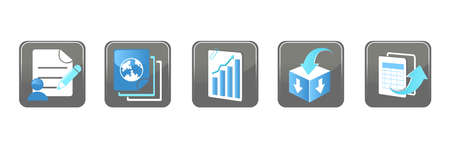 A vector illustration of Business Technology Internet Website Icons