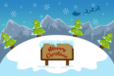 A vector illustration of Merry Christmas Sign