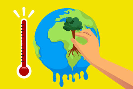 A vector illustration of Global Warming Concept