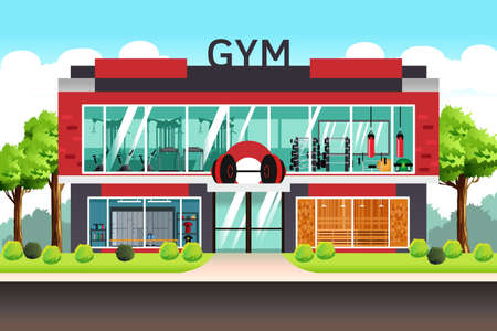 A vector illustration of Fitness Center Gym