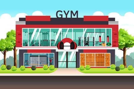 Eine Vektor-Illustration von Fitness Center Gym