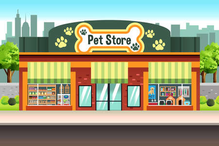 An illustration of a Pet Store