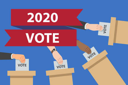 A vector illustration of USA 2020 Election Banner