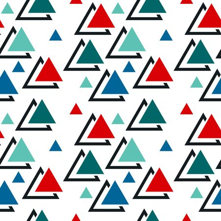 Abstract seamless pattern with graphyc elements - triangles. Geometric wallpaper for cover design.