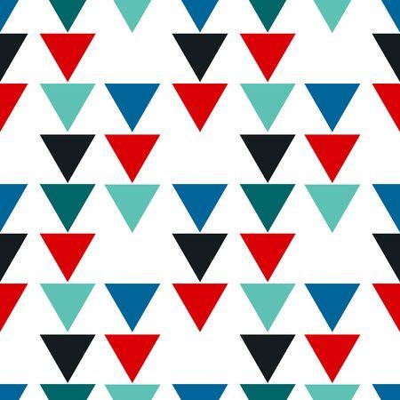 Abstraktes nahtloses Muster mit graphicc Elementen - Dreiecke. Avantgardistischer Collage-Stil. Geometrische Tapete für Business-Broschüre, Cover-Design.