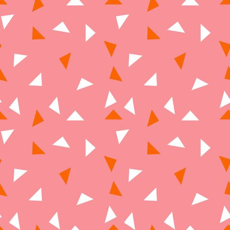 Abstract seamless pattern with graphyc elements - triangles.  Avant-garde collage style. Geometric wallpaper for business brochure,  cover design.