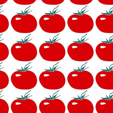 Seamless pattern with tomato. Flat design.