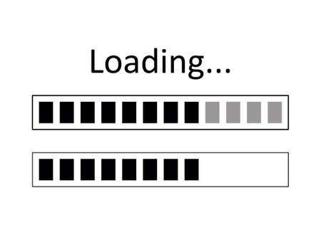 Vector illustration of loading icons. Progress symbol for graphic and web design.