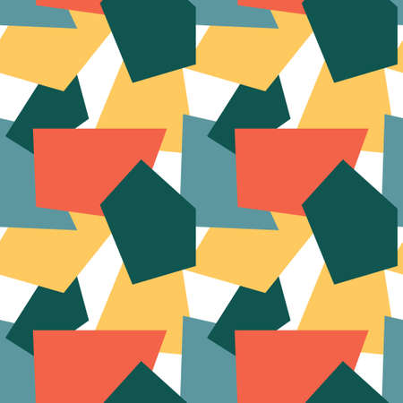 Trendy seamless pattern with graphic abstract shapes Illusztráció