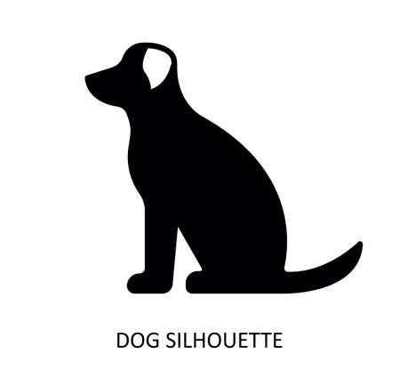 Vector drawing of dog. Black silhouette. Illusztráció