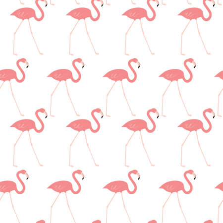 Seamless pattern with red flamingo. Animal print.