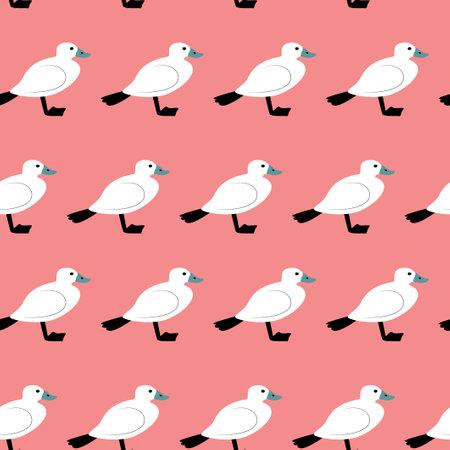 Seamless pattern with duck. Cute cartoon character Illusztráció