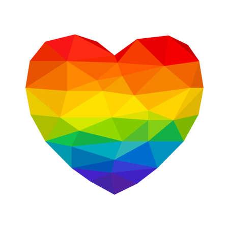 masculin: Heart in Rainbow Colors