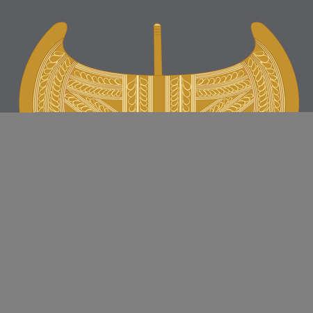 ancient civilization: Labrys Minoan Golden Double Axe Weapon Illustration