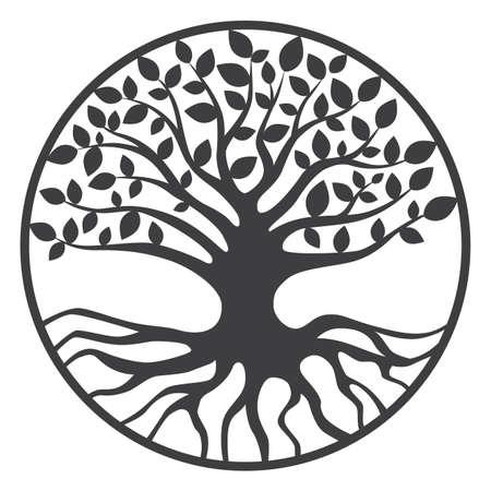 boom: Boom van het Leven Yggdrasil Wereld boom Stock Illustratie