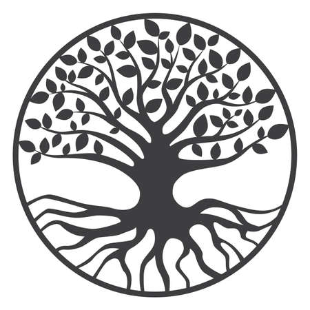 tree of life silhouette: Tree of Life Yggdrasil World Tree