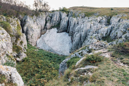 karst: Karst Ice of Lagonaki Plateau Reservation Adygeya Republic Stock Photo