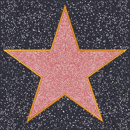 famous actress: Terrazzo Art Marble Venetian Mosaic Star Illustration