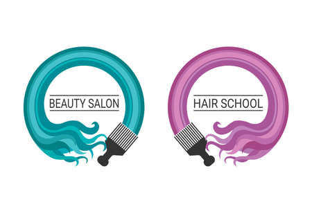 color hair: Hairdresser Brush Color Hair Abstract Barber Shop