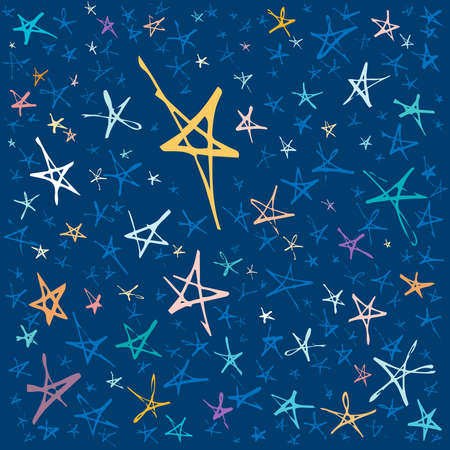 Abstract Hand Drawn Star Constellation in the Sky Illustration