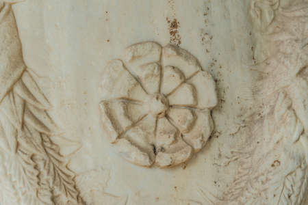 Rosette Flower Carved from the stone - Acropolis of Athens