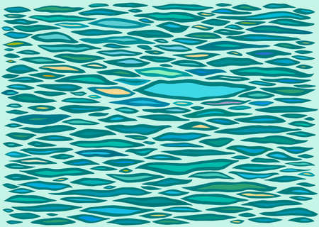 Stylized Hand Drawn Waves on the Water Surface