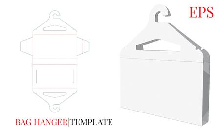 Cloths Hanger and Cloth Bag Template. With die cut / laser cut lines.