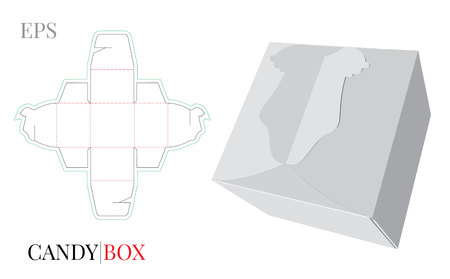 Baby born Gift Box Template,   with die cut, laser cut lines. Ilustrace